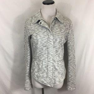 CAbi Womens Neo Jacket 5102 Gray White Zip Up